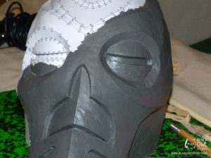 Pepakura covered with plastiline