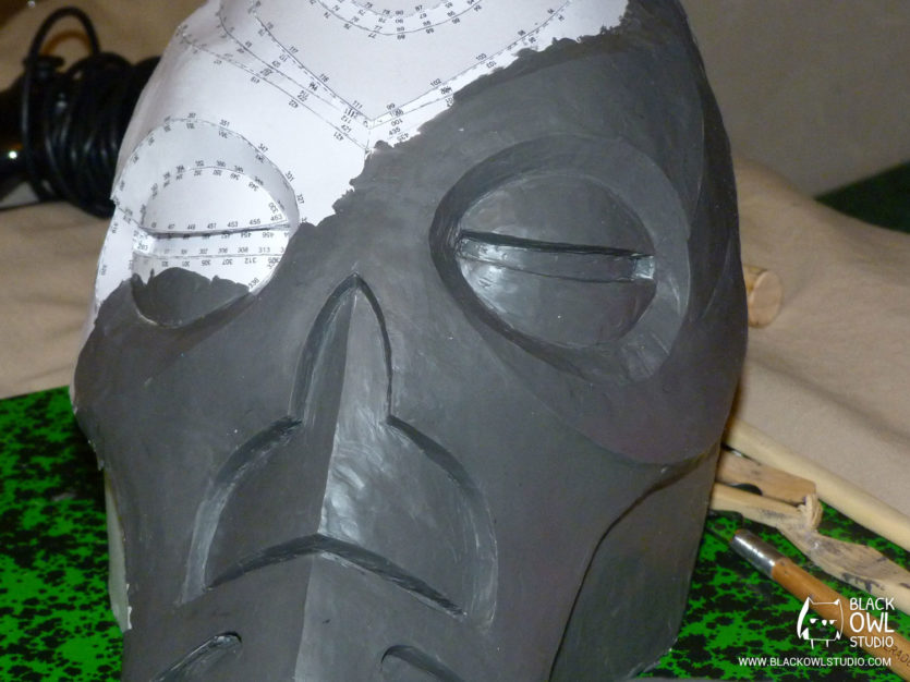 Pepakura recouvert de plastiline