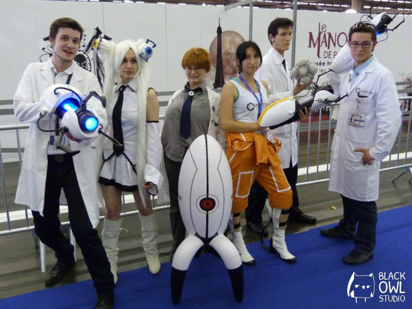 Un groupe d'Aperture Science (Portal)