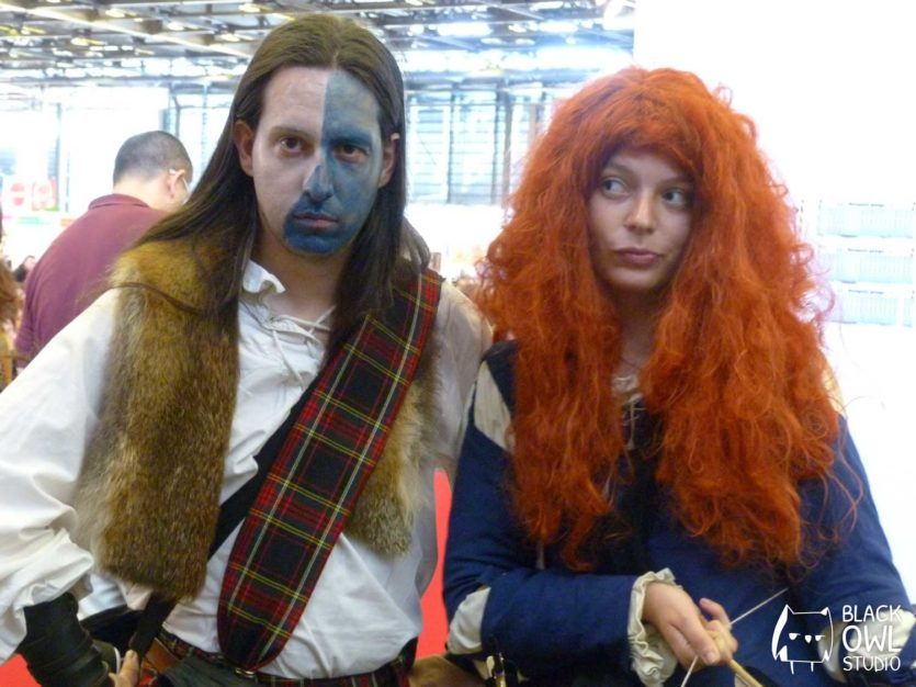 Merida (Rebelle) et William Wallace (Braveheart)