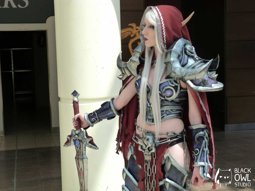 Lightning Cosplay dans son cosplay World of Warcraft