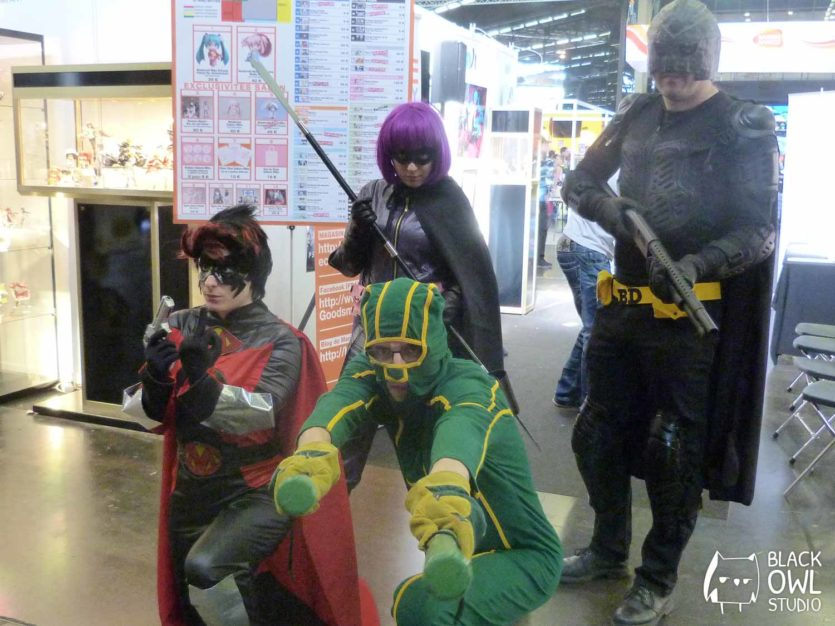 Red Mist, Hit Girl, Big Daddy et Kick Ass