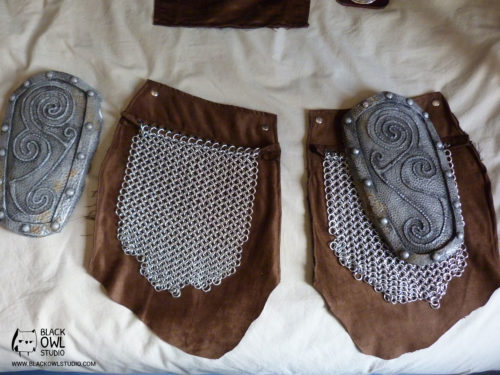 armor pieces and chainmail