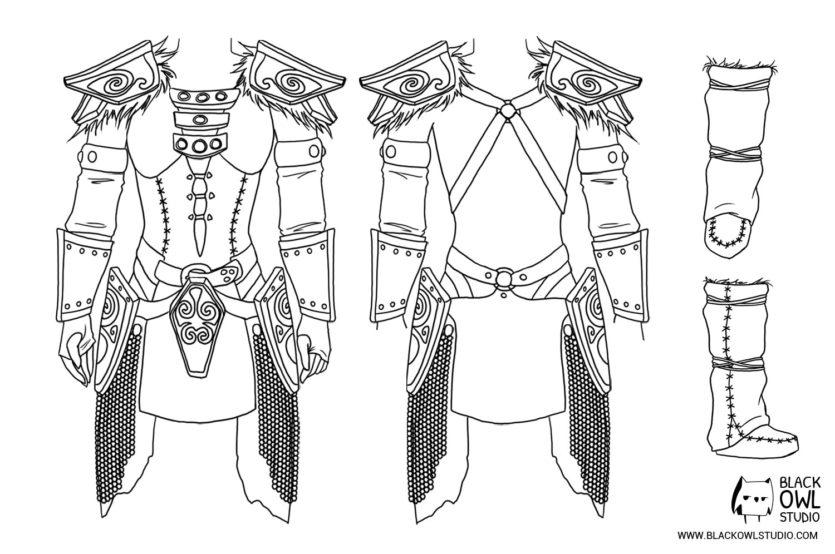Robe et bottes - schéma