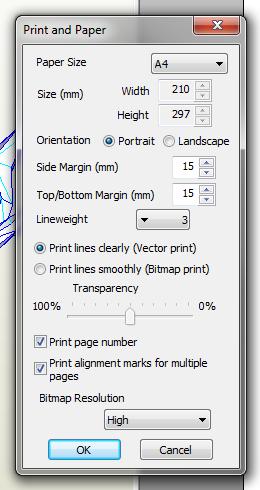 Print and paper settings Pepakura