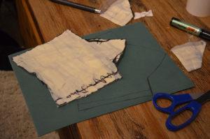 Transfer on the foam sheet