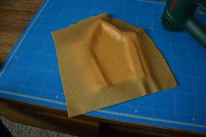 We apply Worbla on the foam basis