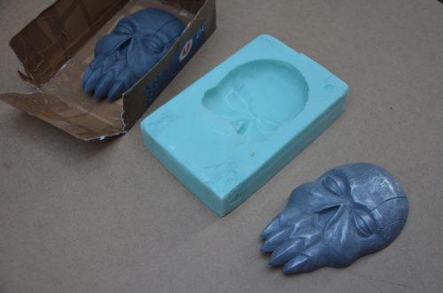 Plastiline sculpt, silicone mold, cold cast