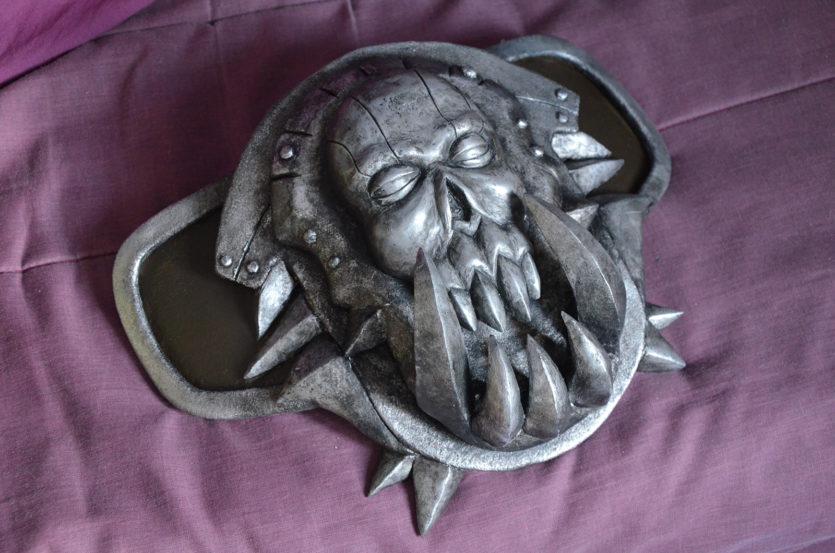 Ceinture worbla peinture argentée