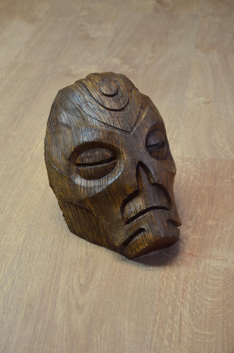 Masque prêtre dragon Wooden Skyrim