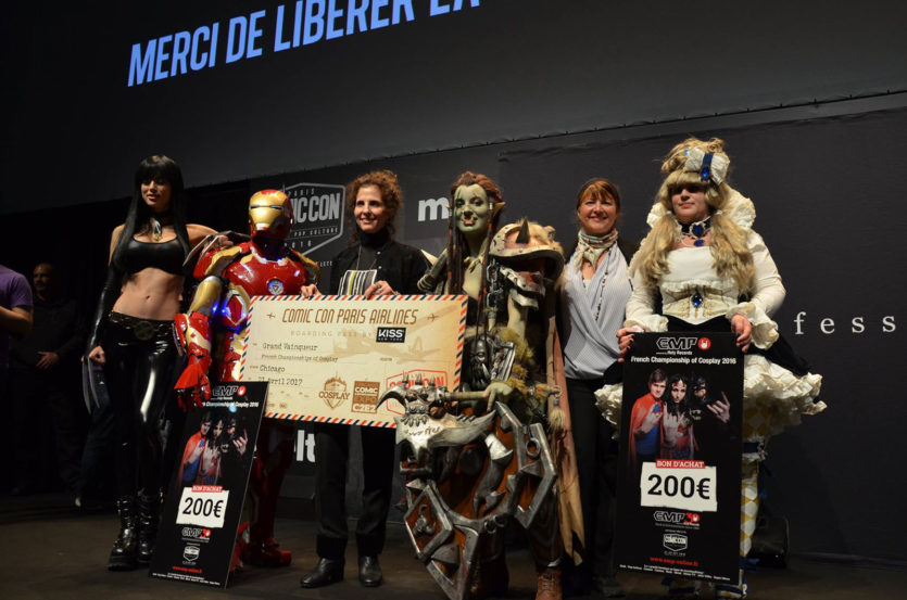 Marie's first place at Comic Con Paris