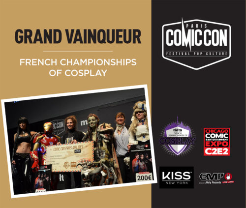 "Grand Vainqueur ""French Championships of Cosplay"" lors du Comic Con Paris"
