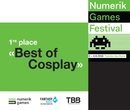 "1ère place ""Best of Cosplay"" au festival Numerik Games"