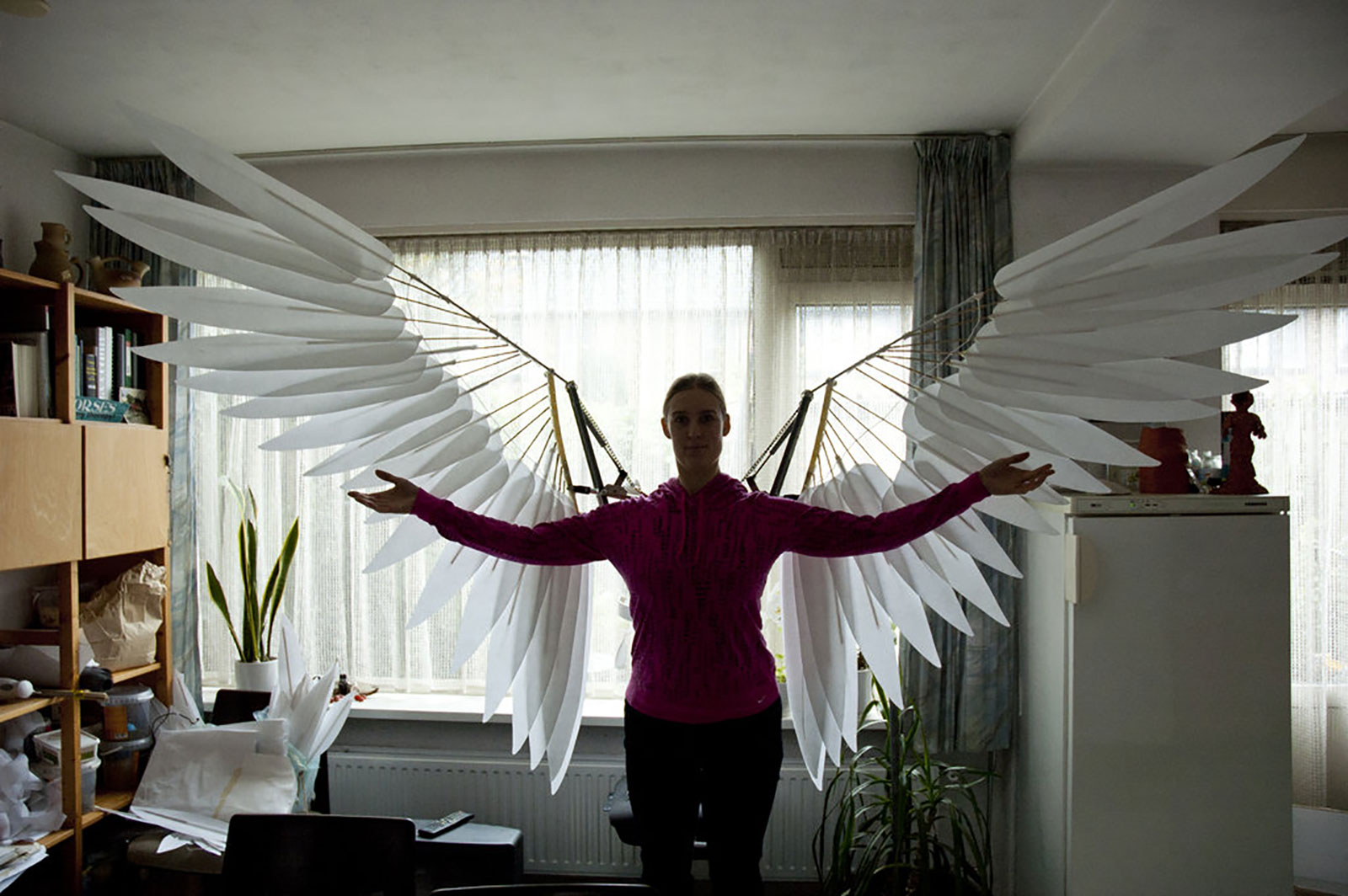 Movable wings costume