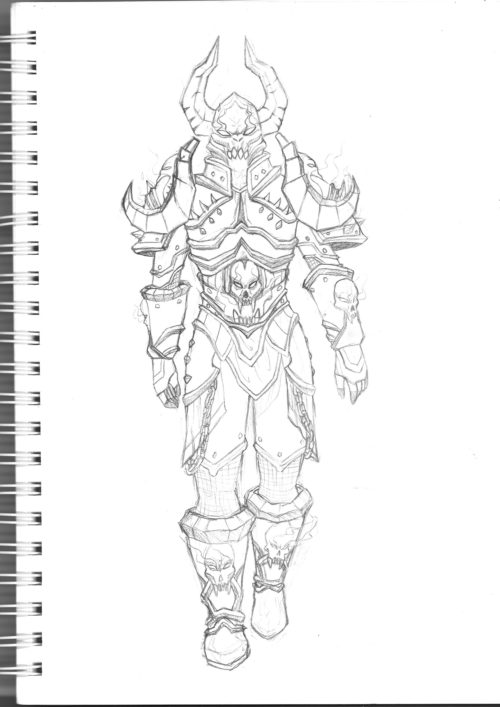 croquis armure cosplay