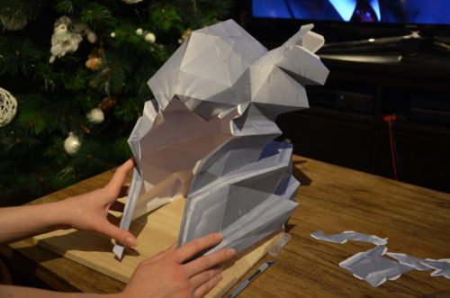 pepakura cosplay casque