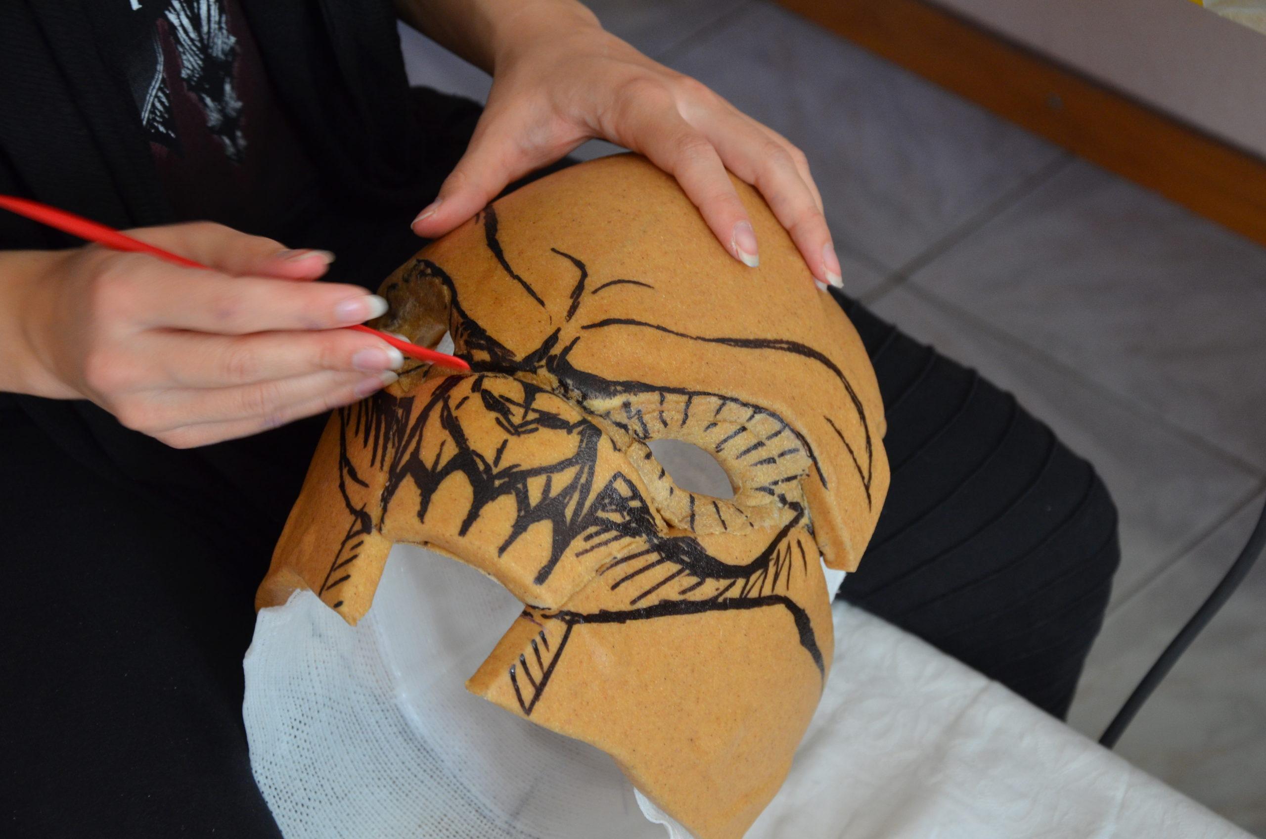 sculpture casque worbla