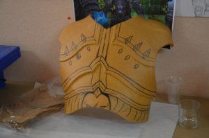patron armure torse
