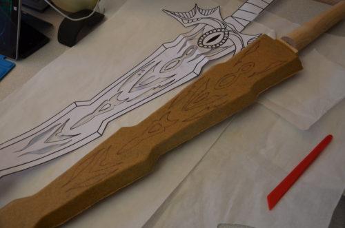 épée mousse worbla