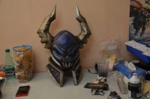casque armure cosplay warcraft