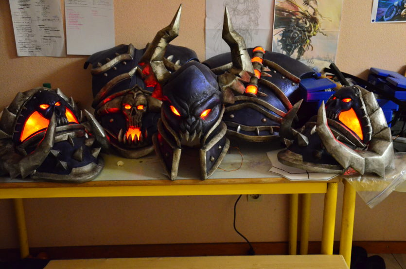 led lumières armure cosplay