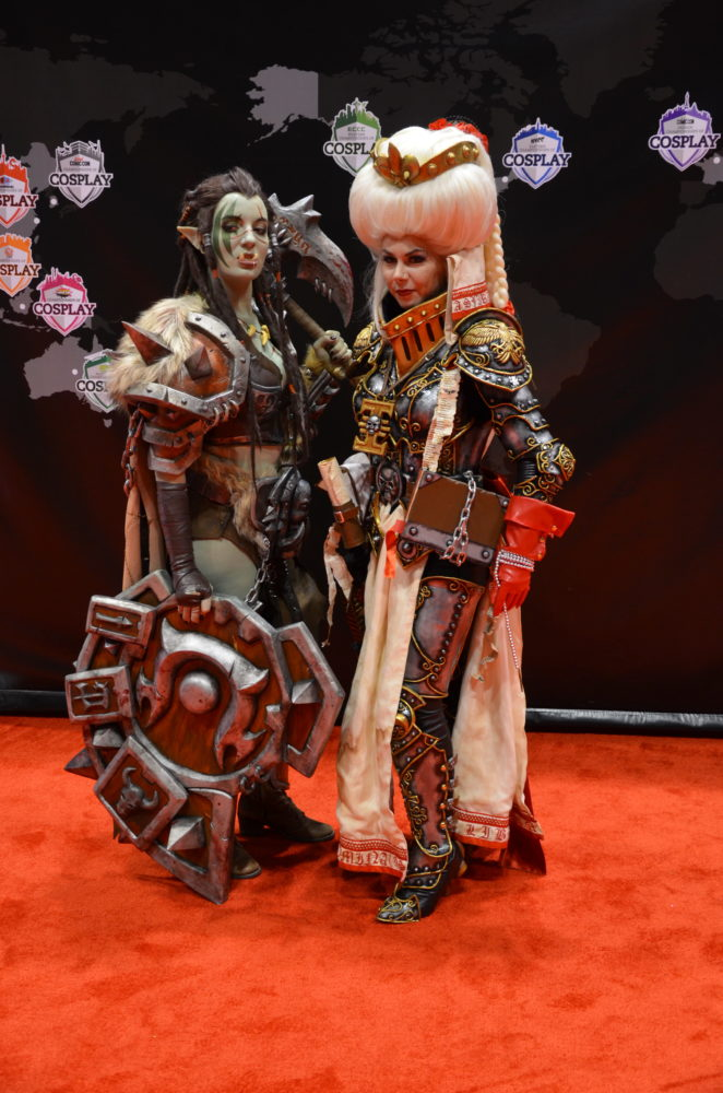 avec Okkido Cosplay, gagnante des Crown Championships of Cosplay