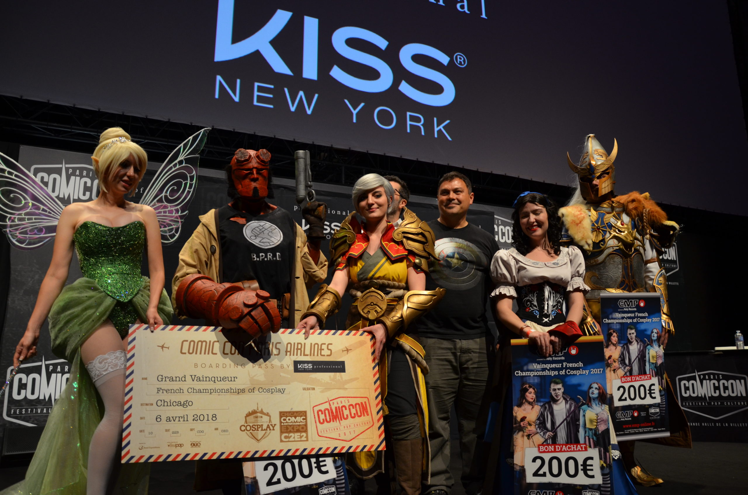 Riki Lecotey, Arlek1 Workshop (1ère place + prix FX), Black Owl Studio, Chris Donio, Newbie Cosplay (prix couture) et Aldarion Cosplay (prix armure)