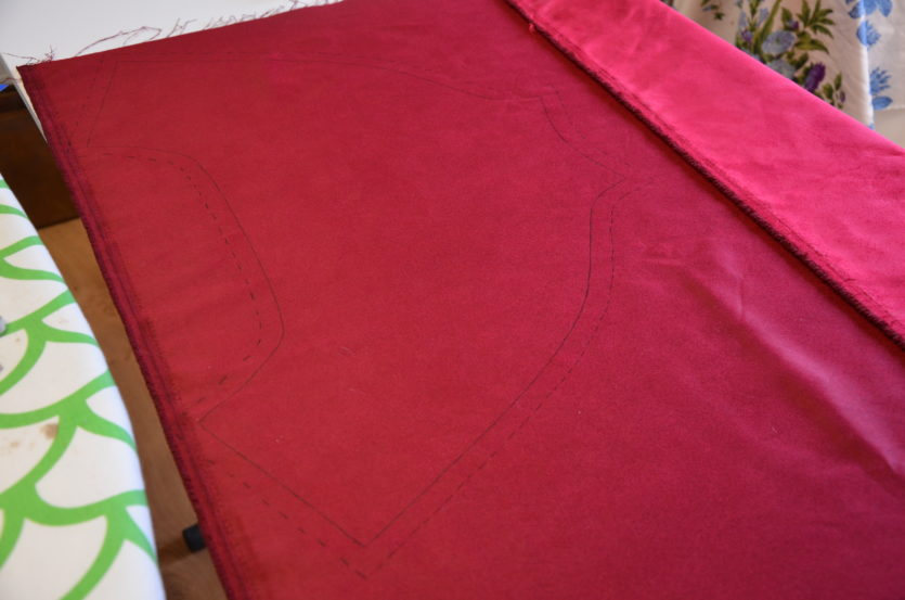 tissu rouge suédine