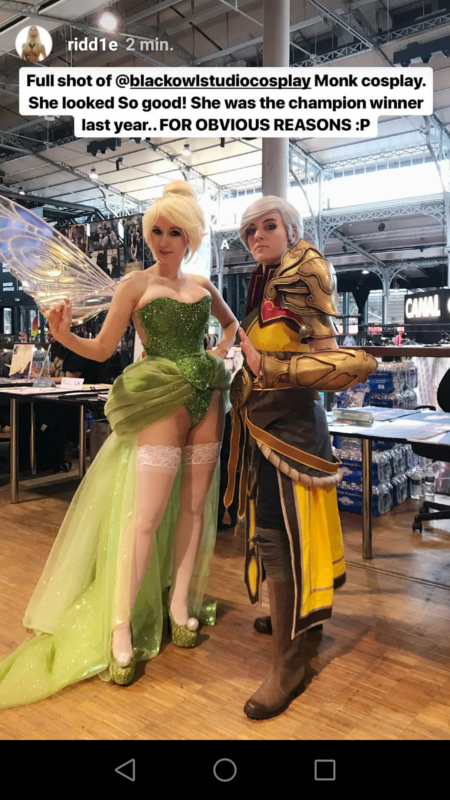 cosplay moniale fée clochette comic con