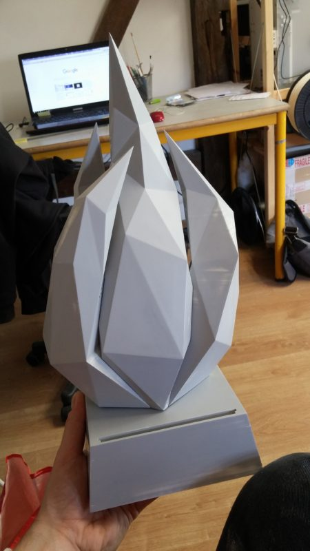 First prototype assembly of the 2018 e-sport trophy